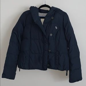 Abercrombie and Fitch Women's Puffer Jacket Navy